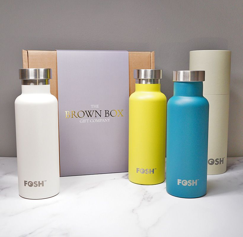 FOSH Insulated Water bottle White