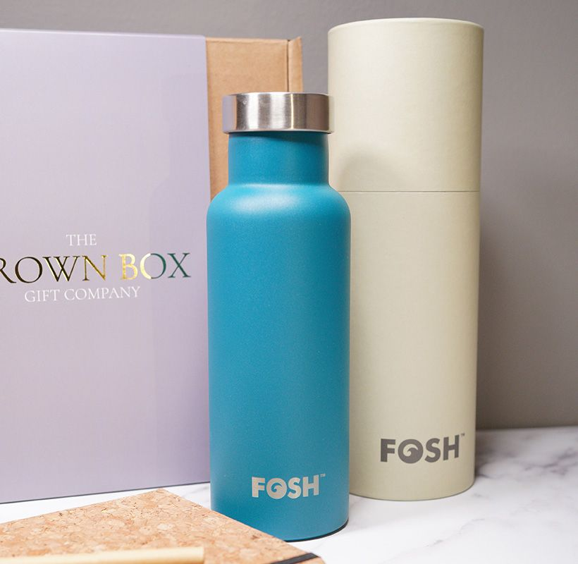 FOSH Insulated Water bottle Blue