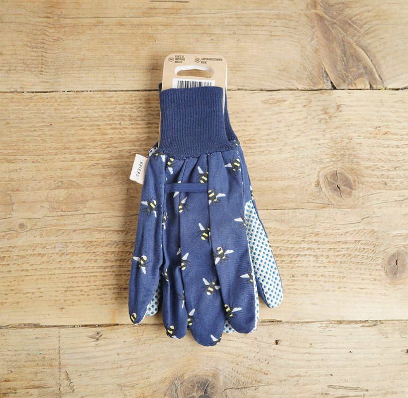 Dark Blue Bee Gloves