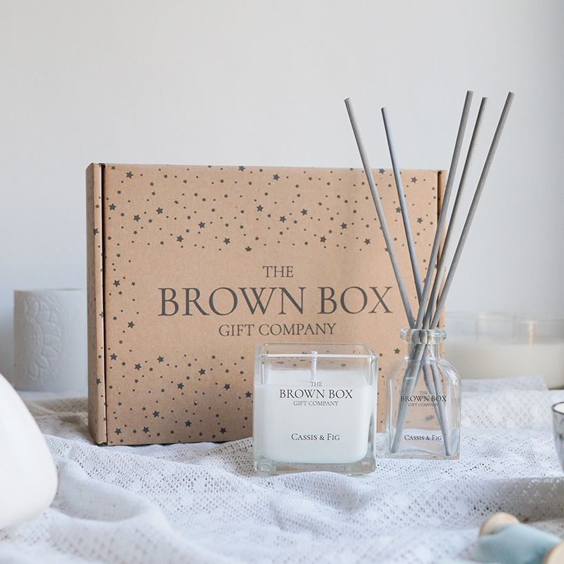 Soy Candle and reed diffuser set