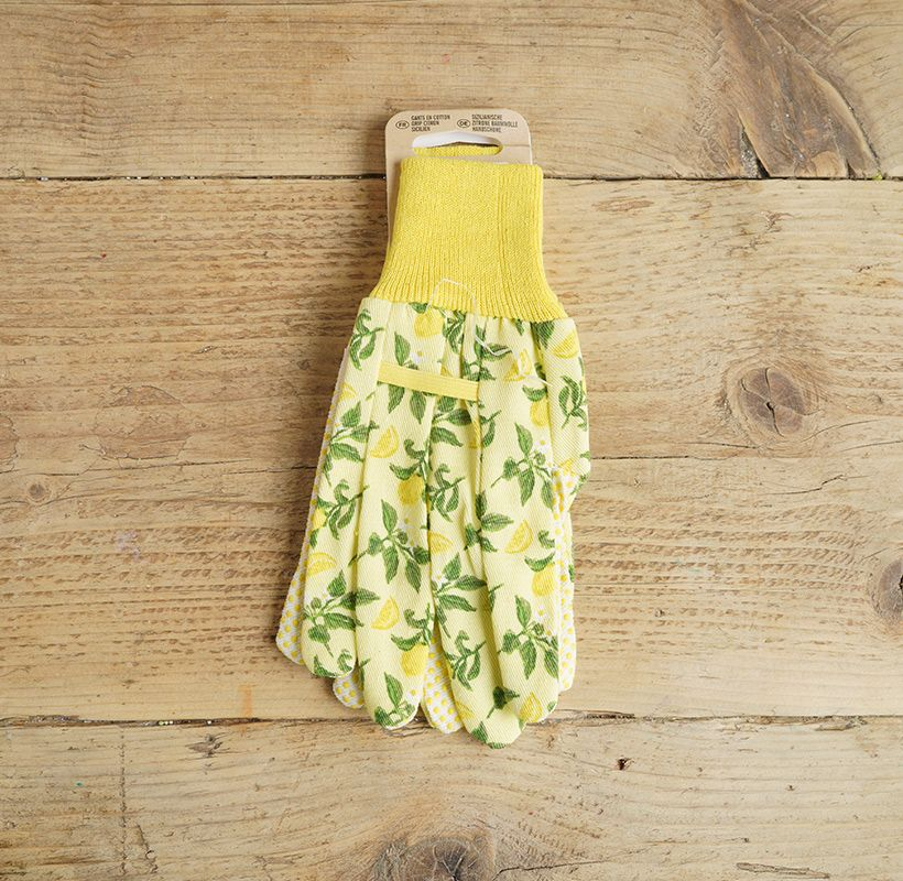 Yellow Lemon Gloves